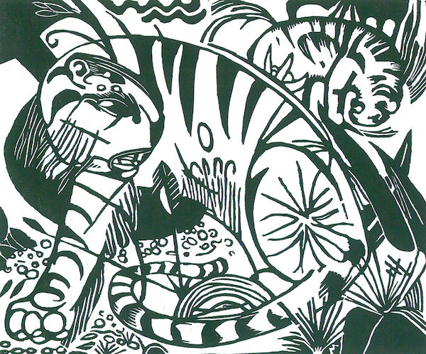 Tiger -2- by Franz Marc  Print